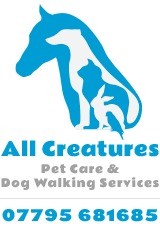 ALL CREATURES PET CARE SERVICE | SHAMLEY GREEN | SURREY Logo